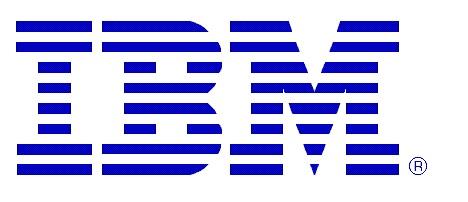 IBM Logo blau mittel